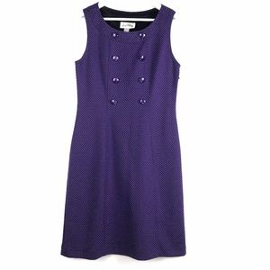 Joseph Ribkoff Purple Dress with Black Str…